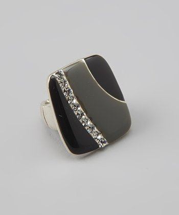 Gray Stone Stretch Ring