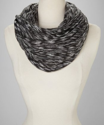 Black & Gray Infinity Scarf