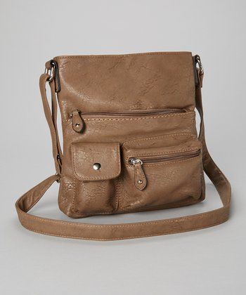 Taupe Pocket Crossbody Bag