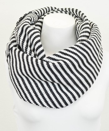 Leto Collection Black Stripe Infinity Scarf