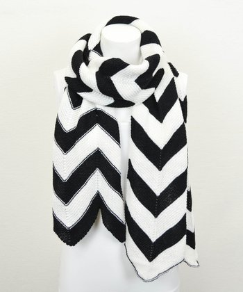 Black & White Chevron Scarf
