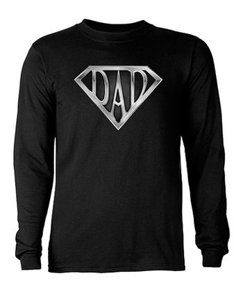 Black Super 'Dad' Tee - Men