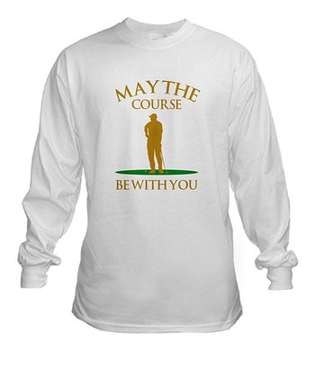 White 'May The Course Be With You' Tee