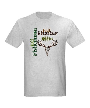 Gray 'Half Fisher Half Hunter' Tee