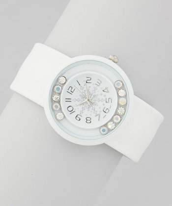 White Solid Snowflake Watch