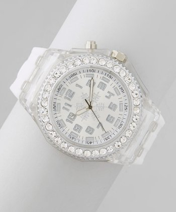 White & Cream Snowflake Watch