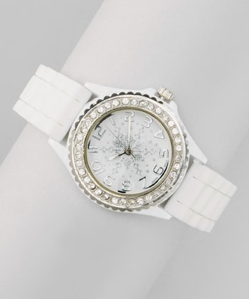 White Snowflake Link Watch