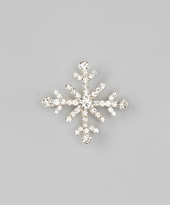 Silver Celebration Snowflake Brooch