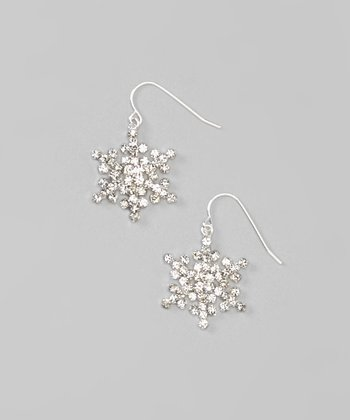 Silver Flurry Snowflake Earrings