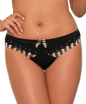 Black & Gold Entice Briefs - Women