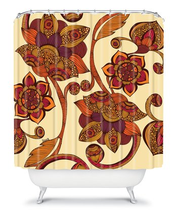 Boho Flowers Shower Curtain