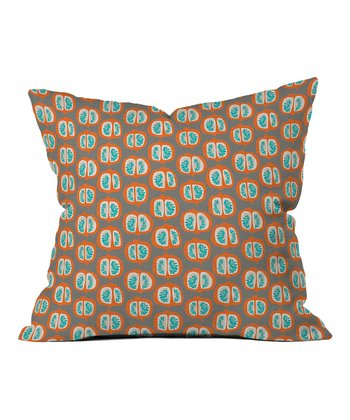 Orange Pomegranate Throw Pillow