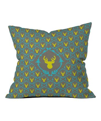 Bianca Green Oh Deer Throw Pillow