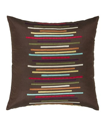 Chocolate Line Throw Pillow