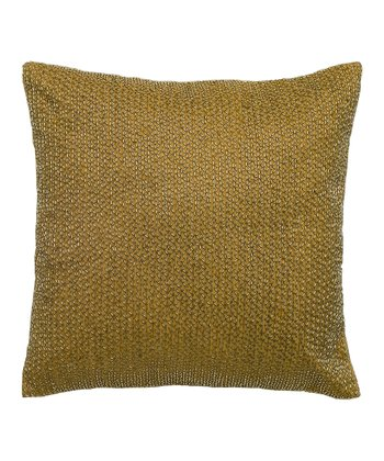 Gold Bead Throw Pillow