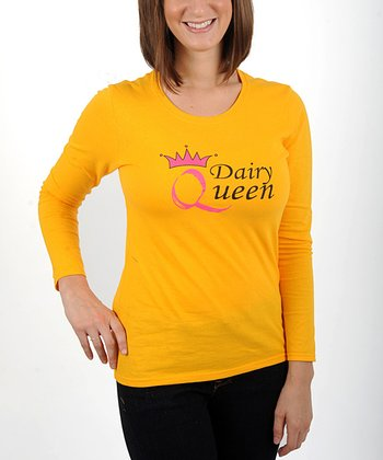 Gold 'Dairy Queen' Top - Women & Plus