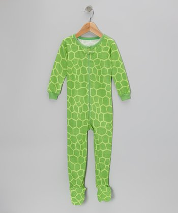 Green Turtle Footie - Infant, Toddler & Kids