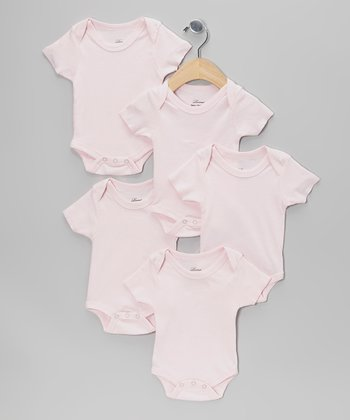 Pink Short-Sleeve Bodysuit Set - Infant