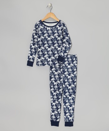 Blue Bear Pajama Set - Boys
