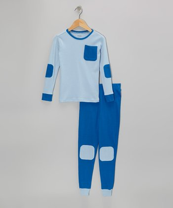 Blue Pocket Pajama Set - Infant, Toddler & Boys