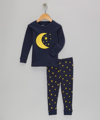 Navy Moon Star Pajama Set - Infant, Toddler & Kids