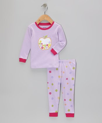 Lavender Apple Flower Pajama Set - Infant, Toddler & Girls