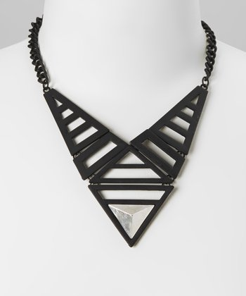 Black Alexa Bib Necklace