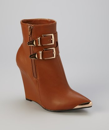 Light Brown Paulina Boot Wedge