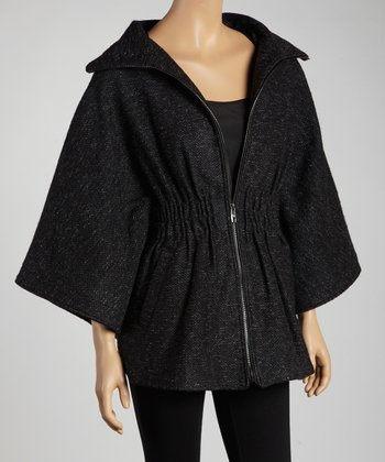 Black Diamond Zipper Cape