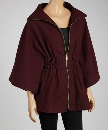 Ruby Zipper Wool-Blend Cape - Women