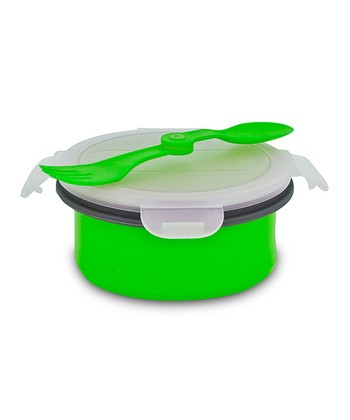 Green Collapsible Soup & Salad Bowl Kit