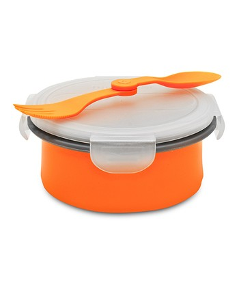 Orange Collapsible Soup & Salad Bowl Kit