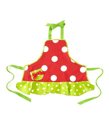 Red & Green Polka Dot Apron