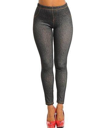 Dark Gray Jeggings - Women