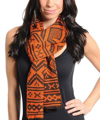 Orange Alpine Scarf - Women