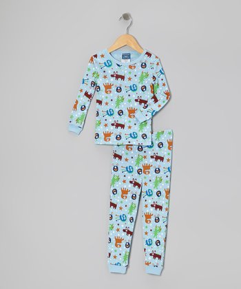 Blue Monster Pajama Set - Toddler