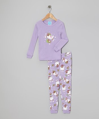 Purple Sheep Pajama Set - Infant