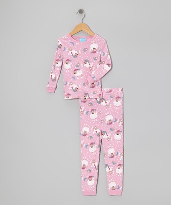 Pink Sheep Moon Pajama Set - Toddler