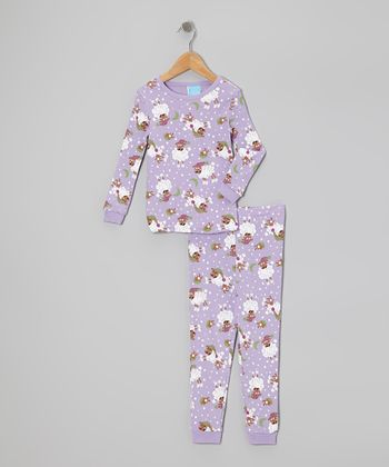 Purple Sheep Moon Pajama Set - Infant