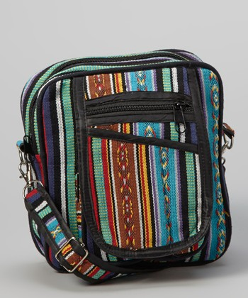 Blue & Black Tribal Crossbody Bag