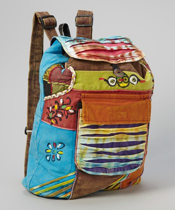 Orange Patchwork File Backpack