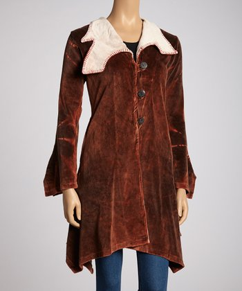 Brown Velvet Coat