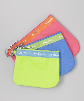 Pink, Blue & Green Bag Set