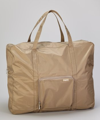 Khaki Zip-Out Shopping Tote