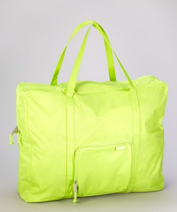 Lime Zip-Out Shopping Tote