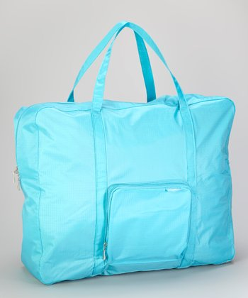 Turquoise Zip-Out Shopping Tote