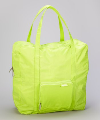 Lime Medium Zip-Out Shopping Tote