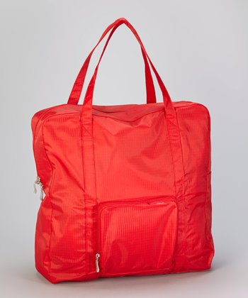 Red Medium Zip-Out Shopping Tote