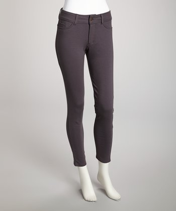 Dark Gray Heather Ponte Leggings