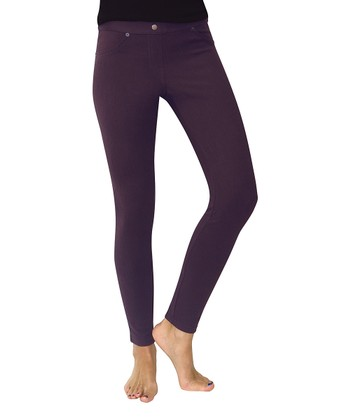 Blackberry Wine Chino Leggings